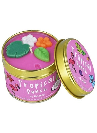 Bomb Cosmetics Tropical Punch Teneke Mum Renkli
